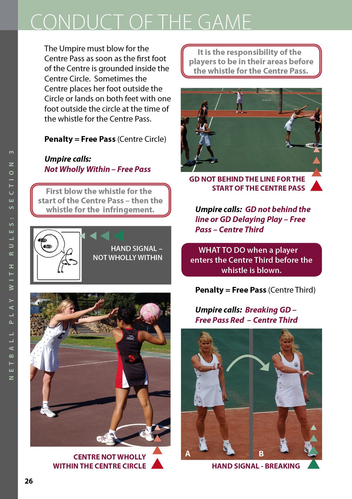 Netball | Netball Play with Rules - page 26